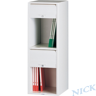 NICK CP單排塑鋼捲門式公文櫃(二層)