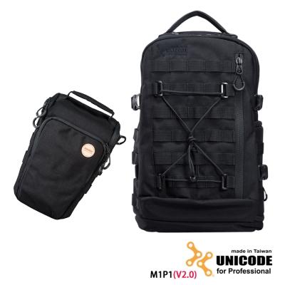 UNICODE M1P1 雙肩攝影背包 槍包套組(V2.0版)-黑色