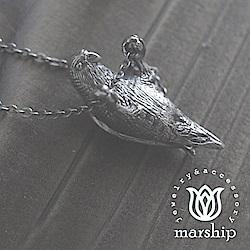 Marship 日本銀飾品牌 愛拉單槓的鸚鵡項鍊 925純銀 古董銀款