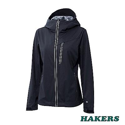 【HAKERS】女款 防潑軟殼外套(黑色)