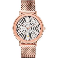 SKAGEN HALD 系列 solar 北歐風米蘭女錶-玫塊金/34mm