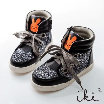 iki2童鞋-閃耀璀璨咕妮兔休閒鞋-奢華黑