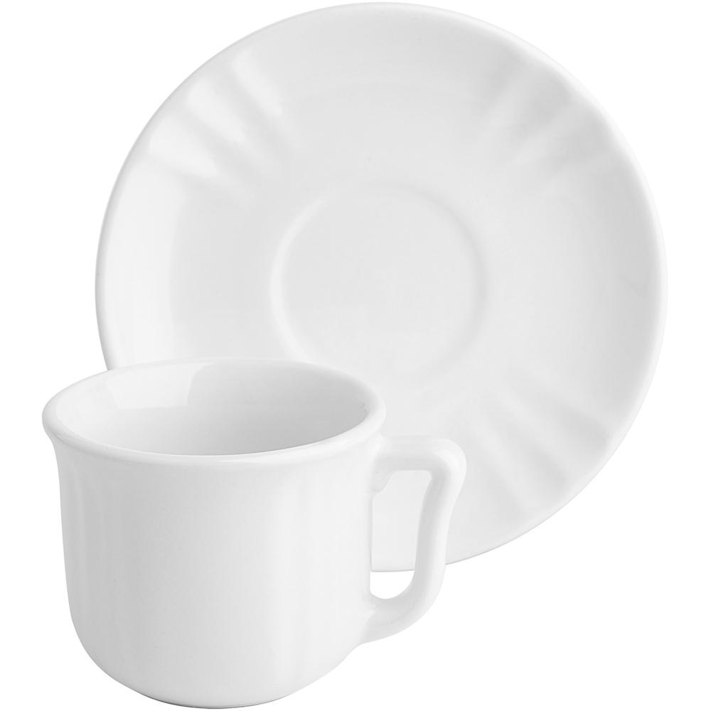 EXCELSA Chic陶製咖啡杯碟組(白90ml)