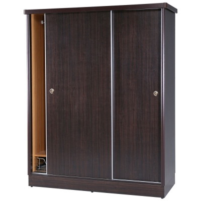 Homelike 喬恩5x7滑門衣櫥-胡桃-152x60x191cm