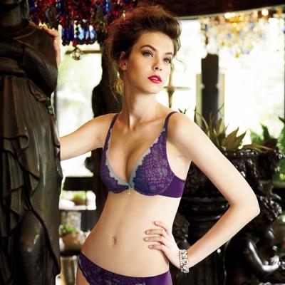 曼黛瑪璉-14AW-V極線低脅內衣  B-E罩杯(丁香紫)