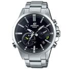 EDIFICE 頂級鑄模技術藍牙傳輸賽車錶(EQB-700D-1A)簡約黑48.2mm
