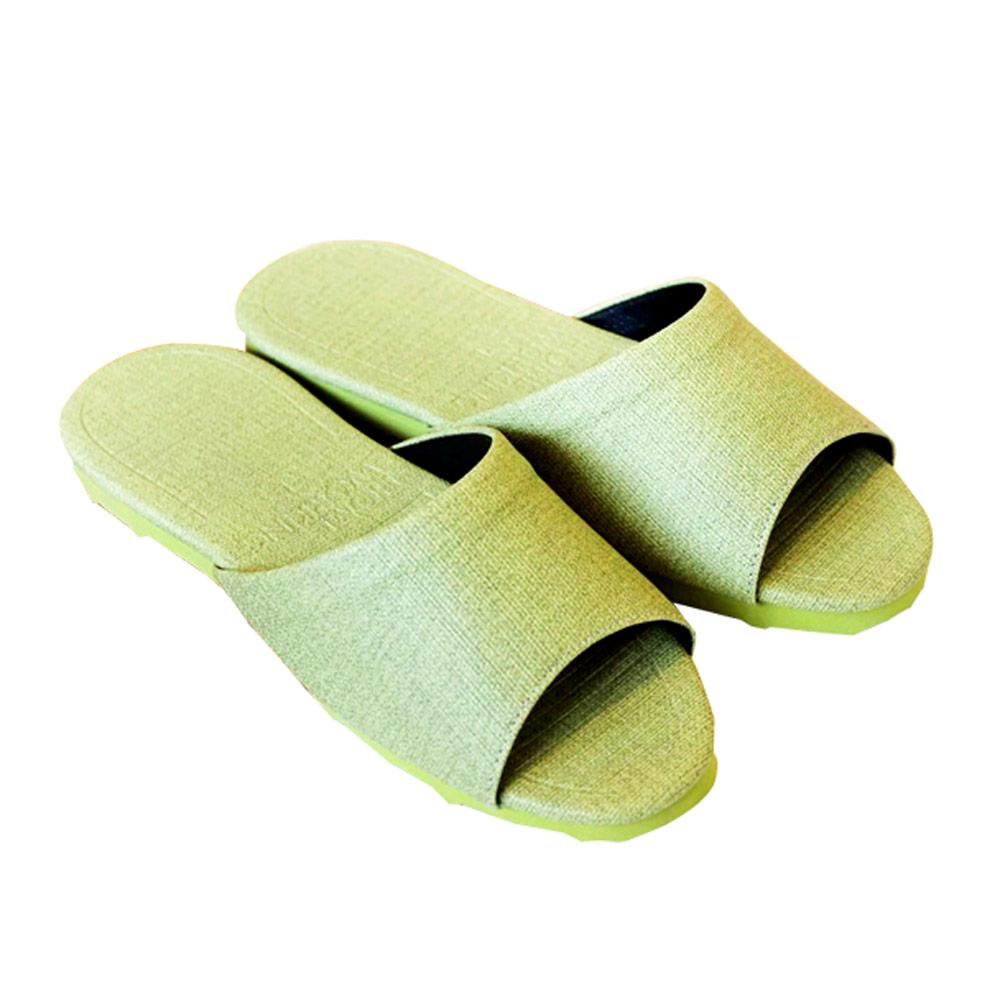 HOME WORKING 新‧日式皮革拖鞋-青草綠