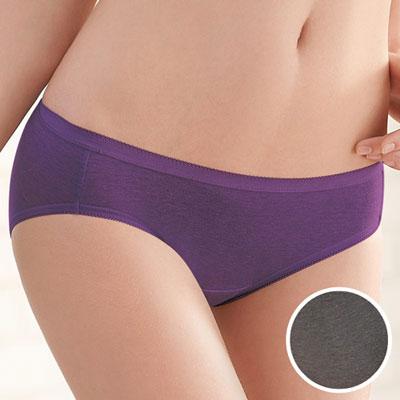#  華歌爾-竹炭纖維單品褲M-LL中腰高裾三角褲(竹炭灰)