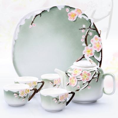Pure 梅花茶具組6件組