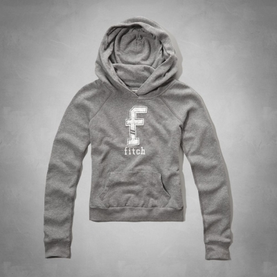 AF a&f Abercrombie & Fitch 女 KID 帽T 灰 0039
