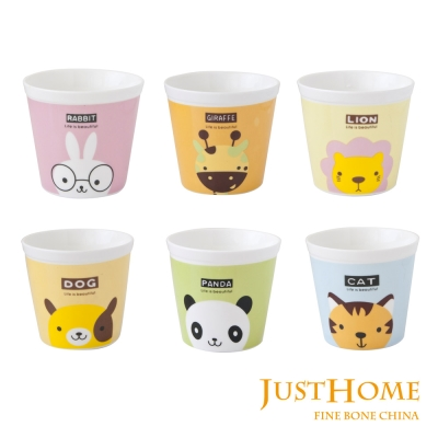 Just Home動物樂園攜帶式陶瓷杯125ml(6入組)