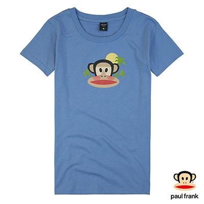 Paul Frank-夏日度假Julius印花短袖T恤-藍色(女)