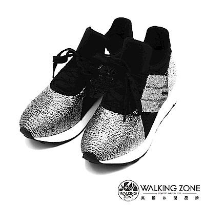 Walking ZONE-閃亮金蔥綁帶運動鞋-銀