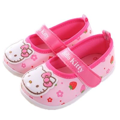 Hello Kitty 草莓魔鬼貼寶寶鞋 粉 sh0037 魔法Baby
