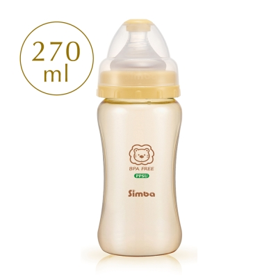 小獅王辛巴 PPSU寬口雙凹中奶瓶(270ml)