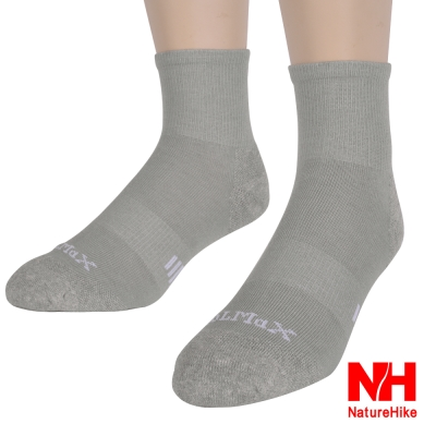 NH-舒適型戶外機能襪-健行襪-登山襪-男款-淺灰