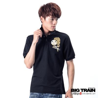 BIG TRAIN-虎嘯POLO衫-黑