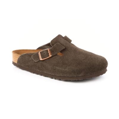 勃肯BIRKENSTOCK 660461波斯頓 包頭拖鞋(反毛皮/咖啡色)