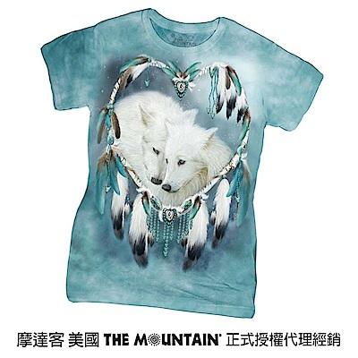 摩達客 美國進口The Mountain  狼之心 短袖女版T恤