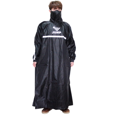JUMP反穿式風雨衣-黑色