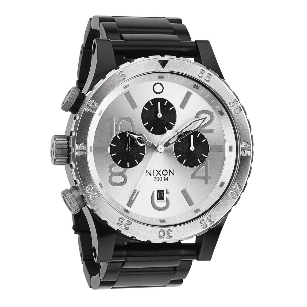 NIXON The 48-20 CHRONO 潮流重擊運動腕錶-白面xIP黑/48mm