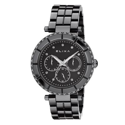 ELIXA CERAMICA陶瓷系列黑框 黑色錶面/陶瓷錶帶38mm