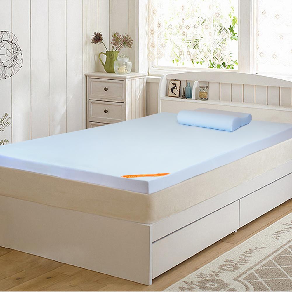 LooCa 吸濕排汗彈力11cm記憶床墊(含記憶枕x1)-單人