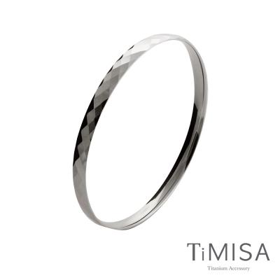 TiMISA《格緻真愛-細版》純鈦手環