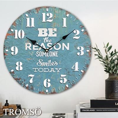 TROMSO無框畫時鐘-歡笑生活(圓形)