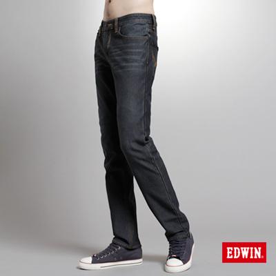 【EDWIN】大尺碼 W.F PREMIuM中直筒保溫褲-男款(酵洗藍)