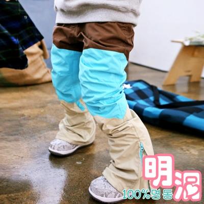 撞色拼接感厚棉內刷毛雪褲 (共二色)-100%明洞