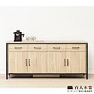 日本直人木業-CELLO明亮簡約輕工業風181CM廚櫃(181x40x85cm)