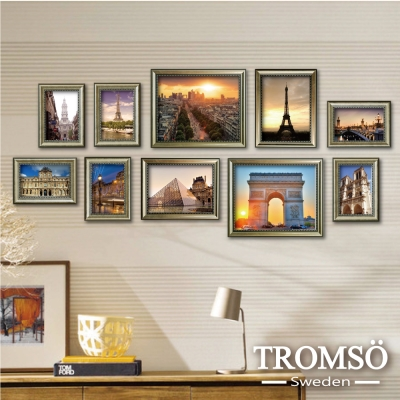 TROMSO-巴黎風華銀絲相框牆10框組