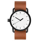 TID Watches No.1 White 白x 棕褐色真皮腕錶-40mm
