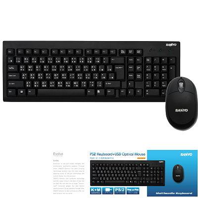 三洋 電腦有線鍵盤滑鼠組 SYKM-1001