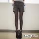 La-Belleza亮皮質斜口袋鬆緊短褲