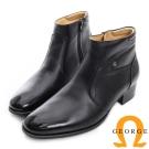 GEORGE 喬治-真皮短筒紳士靴-黑色