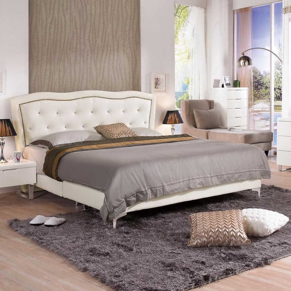 時尚屋 艾蜜莉5尺雙人床 (只含床頭-床架-不含床墊-床頭櫃)