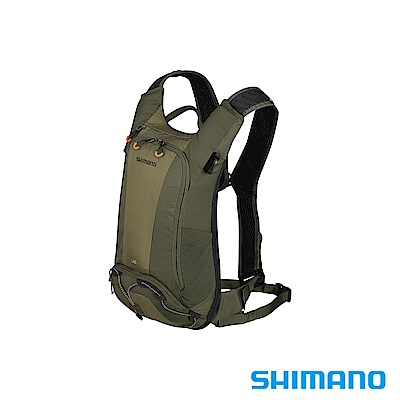 SHIMANO UNZEN 登山車後背包-無水袋 6L 橄欖綠