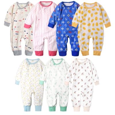 baby童衣 居家服 連身衣 純棉側開睡衣型爬服 35041
