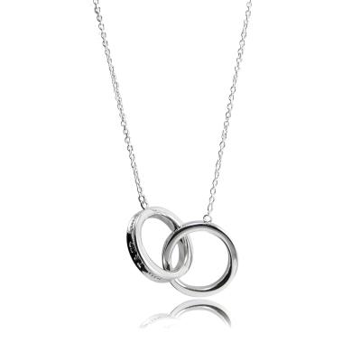 Tiffany&Co. Tiffany1837 簡約刻字連鎖圓環純銀項鍊