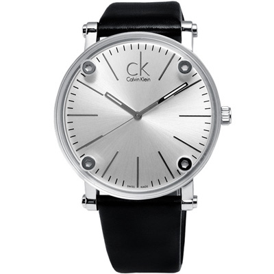 cK Cogent 魔幻透視設計美學限量腕錶-銀面/43mm