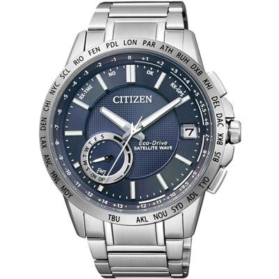 CITIZEN F-150 光動能GPS衛星對時腕錶(CC3001-51L)-藍/44.5mm