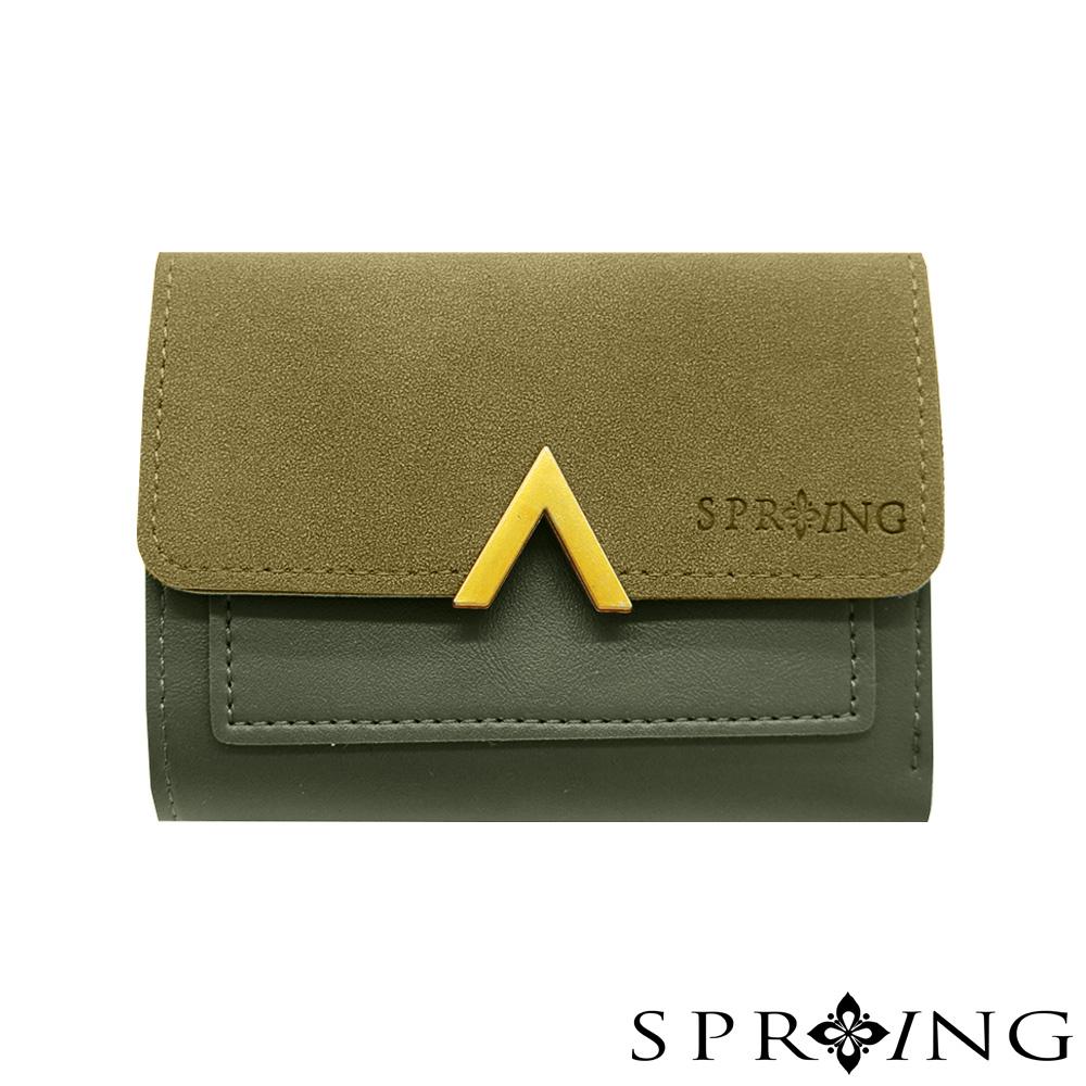 SPRING-如初微光V釦短夾-森林綠