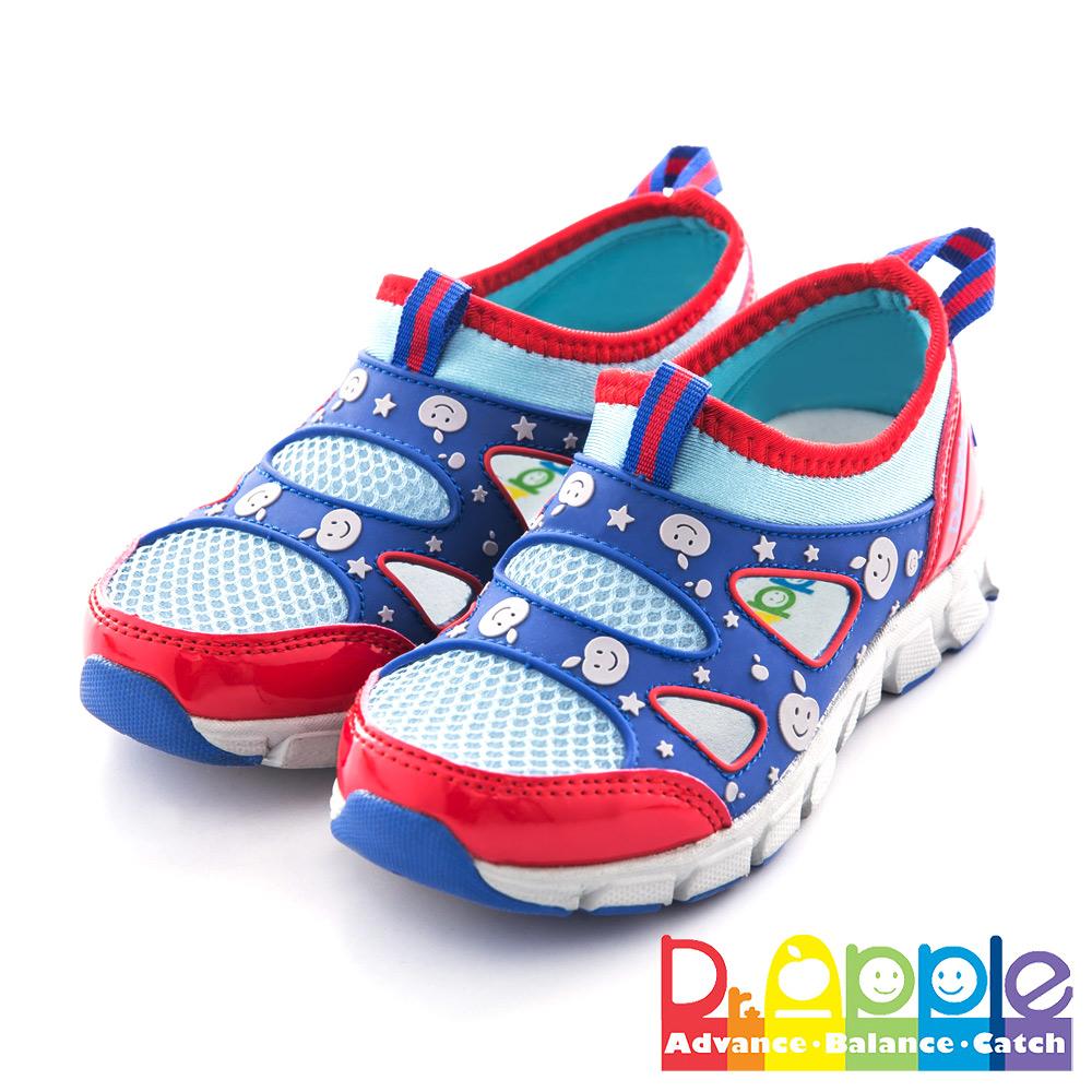 Dr. Apple 機能童鞋 星光蘋果閃亮透氣休閒款 藍