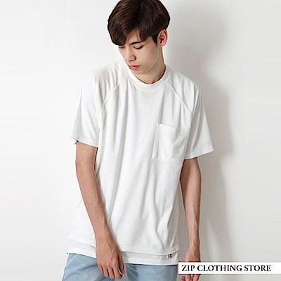 寬版毛巾布短袖TEE(9色) ZIP日本男裝