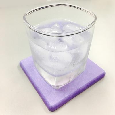 人氣和風珪藻土吸水杯墊-紫色