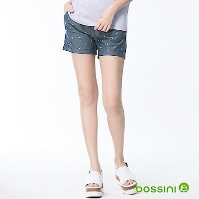 bossini女裝-印花輕便短褲01深靛藍