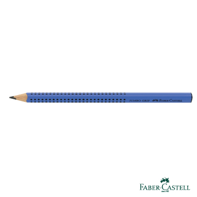 Faber-Castell 紅色系 JUMBO學齡前孩童專用大三角粗芯鉛筆(藍色)
