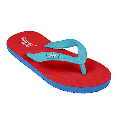 Fipper JUNIOR 天然橡膠拖鞋 RED-BLUE
